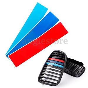 10 M Colored Kidney Grill Stripe Decal Sticker Decoration For Bmw M3 M5 M6 E46