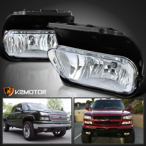2003 2006 Chevy Silverado 1500 2500 3500 Clear Bumper Driving Fog Lights Bulbs