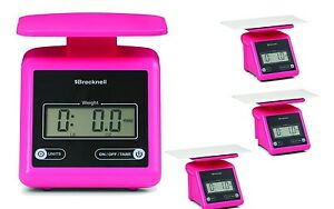 Brecknell Ps7 Portable Parcel Shipping Scale 7 Lbx0 5oz dual pink package Of 4