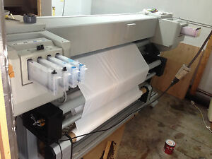 Mutoh Valuejet Vj 1638 Dual Head Auto Take Up Roll To Roll Waterbased Ink