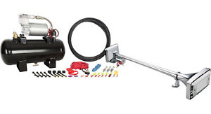 Hornblasters Mother Trucker 127h Loud Compact Big Rig Air Horn Kit W Compressor