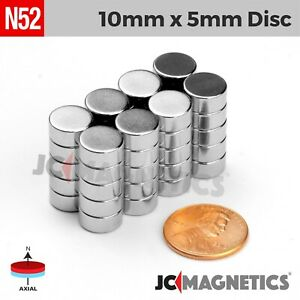 5 10 25 50pc 10mm X 5mm 3 8 X 3 16 N52 Strong Disc Rare Earth Neodymium Magnet