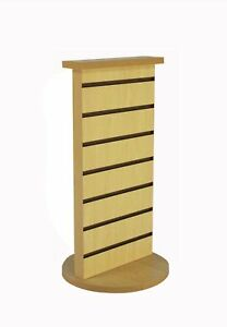 2 sided Slatwall Counter Spinner Maple Display Rack Great For Gift jewelry 15592
