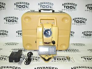 Topcon Gpt 3207nw Total Station Transit W Case Charger Battery Case Plumb Bob