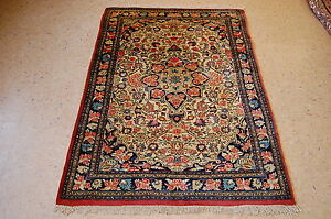 C1930s Antique Beautifuly Detailed Fine Prsian Bijar Rug 3 8x5 4 High Kpsi