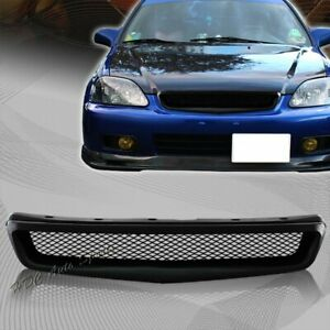 For 99 00 Honda Civic Ek Jdm Type R Style Black Mesh Abs Front Hood Grille Grill
