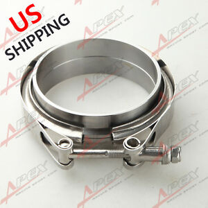 3 5 Inch V band Flange Clamp Kit For Turbo Exhaust Downpipes Mild Steel Us