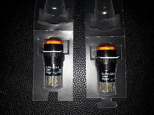 Lot Of 2 Idec Al6m a24 a Round Switch Orange Al6ma24a Freeshipsameday