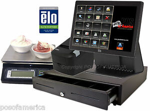 Aldelo All in one Elo Pos Frozen Yogurt Restaurant Elo 15d2 System Station New
