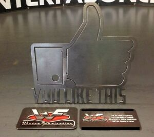 You Like This Hitch Cover 1 8 Steel Funny Tow Towing Reese Custom