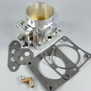 Cnc Machined Billet Aluminum 75mm Throttle Body For 86 93 Ford Mustang 5 0l