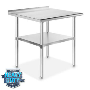 Stainless Steel 24 X 30 Nsf Kitchen Restaurant Work Prep Table With Backsplash