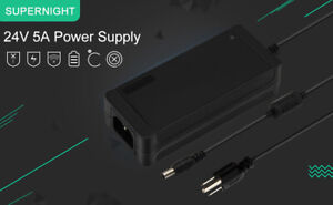 Ac To Dc 24v 5a 120w Switching Converter Power Supply For 10m Led Strip Light