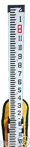 Universal 8 Foot Aluminum Grade Rod With Inch Scale Case Level