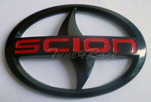 For Scion Large Black Red Logo Emblem Badge Sticker Decal Tc Xa Front Grille