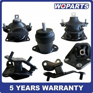 Front Engine Motor Transmission Mount Set 6 Fit For Honda Accord 2 4l 03 07 Auto