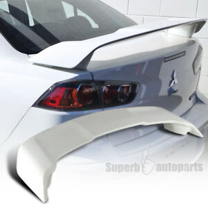 2008 2015 Mitsubishi Lancer Unpainted Abs Plastic Rear Trunk Spoiler Wing