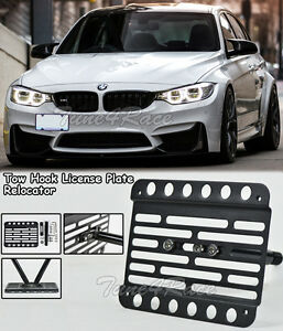 For 15 up Bmw M3 F80 Front Tow Hook License Plate Mount Bracket Relocator