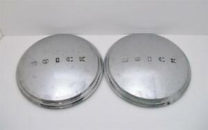 2 Buick Hub Caps Dog Dish Chrome 10 Oem