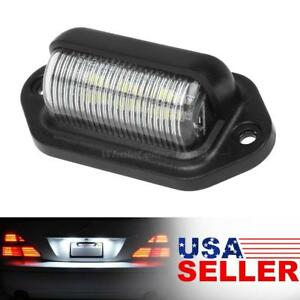 White 6 Smd Universal Wiring License Plate Tag Light Rv Trailer Trucks 12 24v