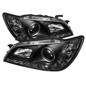 Fit Lexus 01 05 Is300 Black Drl Halo Led Projector Headlights Factory Hid Model