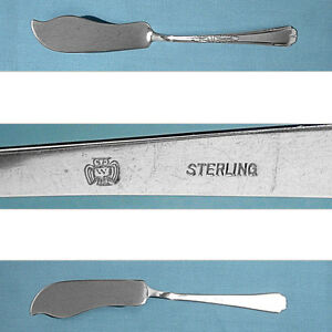 Weidlich Sterling Flat Handle Master Butter Knife Lenox No Mono