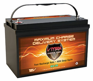 Slr125 Agm Deep Cycle 12v 125ah Solar Emergency Power Backup Generator Battery