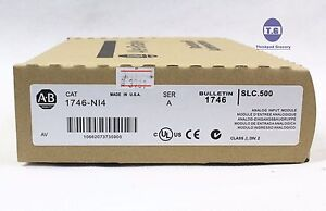 New Sealed Allen Bradley 1746 ni4 Slc 500 Analog Plc Module 1746ni4