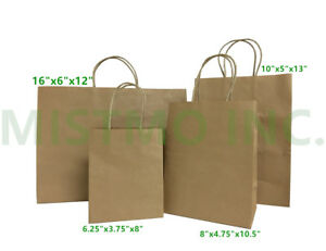 Brown Large Kraft Paper Bags Shopping Handles wedding Party Gift Bags 16x6x12