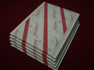 50 Happy Holiday 6 X 10 Kraft Christmas Red Green White Self Seal Bubble Mailer