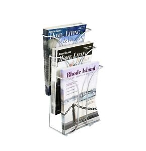 Wire Literature Holder Brochure Display Stand Tri fold Leaflet Coutertop Display