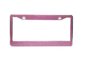 All Pink Bling Glitter Crystal Rhinestone License Plate Frame Car Truck Auto
