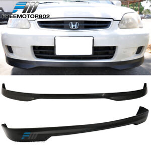 Fits 99 00 Honda Civic Ek Hatchback Front Rear Bumper Lip