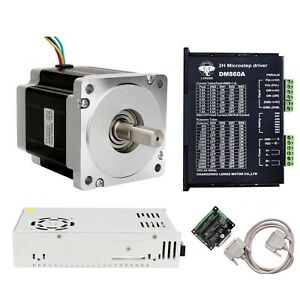 Usa Free Ship 1 Axis Nema 34 Stepper Motor 965oz in 5 6a driver 80v Cnc