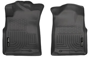 Husky Liners Weatherbeater Floor Liner Mats Front For 05 15 Toyota Tacoma Black