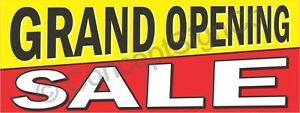 3 x8 Grand Opening Sale Banner Large Outdoor Sign Now Open New Store Retail Big