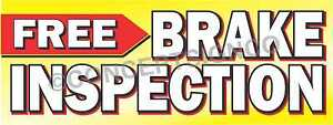 3 x8 Free Brake Inspection Banner Outdoor Signs Large Check Auto Service Brakes