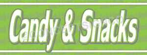 2 x5 Candy Snacks Banner Outdoor Signs Concessions Stand Popcorn Nachos Sodas