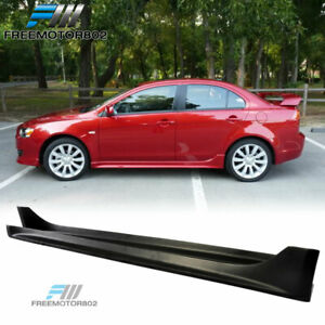 For 08 17 Mitsubishi Lancer Oe Style Side Skirts Pp Propylene