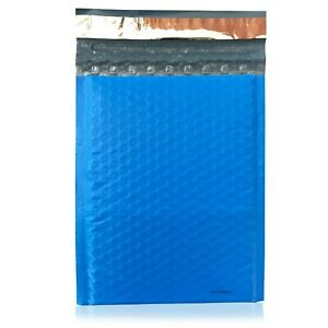 100 0 Blue Poly Bubble Mailers Envelopes Bags 6x10 Extra Wide Colors 6 5