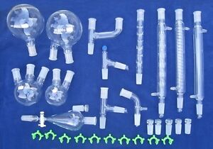 Brand New Laboratory Glassware Kit With Joint Size 24 40