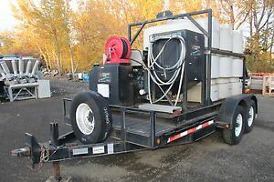 Pressure Washer Trailer 2008 Storm St1416 With Water Tank Nice Working Kubota