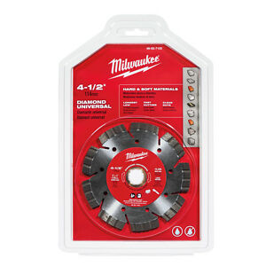 Milwaukee 49 93 7105 4 1 2 In Diamond Universal Segmented turbo Saw Blade