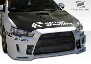 Duraflex Evolution 10 Gt Concept Front Bumper Cover 1 Piece For Lancer Mits