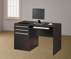 Contemporary Brown Computer Desk