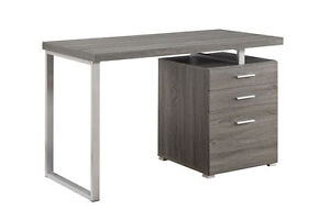 Hilliard Weathered Grey Wood Metal Writing Desk