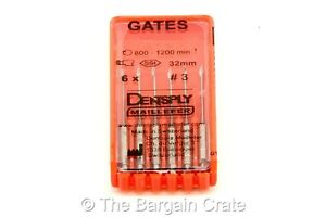 Us Seller 12 Packs Dentsply Gates Glidden Drill 32mm 3 Dental Endo 72 Drills