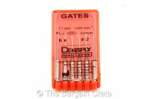 Us Seller 12 Packs Dentsply Gates Glidden Drill 32mm 2 Dental Endo 72 Drills
