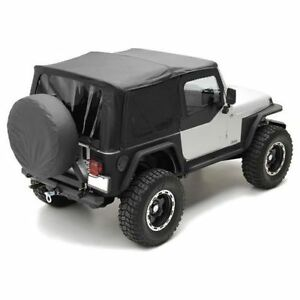 1997 2006 Jeep Wrangler Replacement Soft Top W Upper Doors Tinted Windows Kit