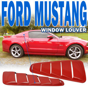 Fit For 10 14 Ford Mustang Oe Style Painted D3 Pq Race Red Window Louver Pp